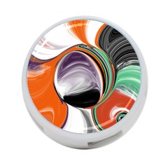 Abstract Orb in Orange, Purple, Green, and Black 4-Port USB Hub (Two Sides)