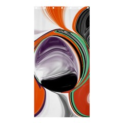 Abstract Orb In Orange, Purple, Green, And Black Shower Curtain 36  X 72  (stall)