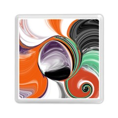 Abstract Orb in Orange, Purple, Green, and Black Memory Card Reader (Square)
