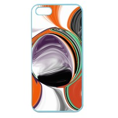 Abstract Orb In Orange, Purple, Green, And Black Apple Seamless Iphone 5 Case (color)