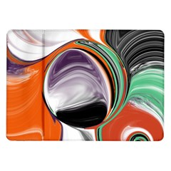 Abstract Orb in Orange, Purple, Green, and Black Samsung Galaxy Tab 10.1  P7500 Flip Case