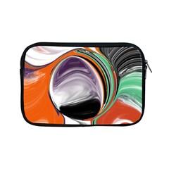 Abstract Orb In Orange, Purple, Green, And Black Apple Ipad Mini Zipper Cases
