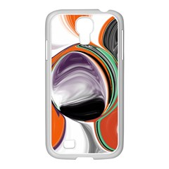 Abstract Orb in Orange, Purple, Green, and Black Samsung GALAXY S4 I9500/ I9505 Case (White)