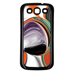 Abstract Orb in Orange, Purple, Green, and Black Samsung Galaxy S3 Back Case (Black)