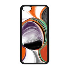 Abstract Orb in Orange, Purple, Green, and Black Apple iPhone 5C Seamless Case (Black)