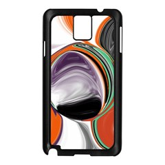 Abstract Orb In Orange, Purple, Green, And Black Samsung Galaxy Note 3 N9005 Case (black)