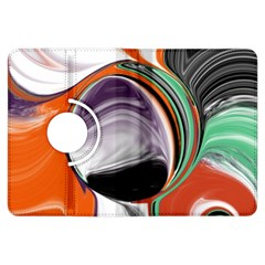 Abstract Orb In Orange, Purple, Green, And Black Kindle Fire Hdx Flip 360 Case