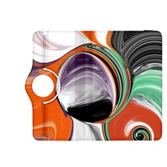 Abstract Orb in Orange, Purple, Green, and Black Kindle Fire HDX 8.9  Flip 360 Case