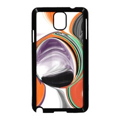 Abstract Orb in Orange, Purple, Green, and Black Samsung Galaxy Note 3 Neo Hardshell Case (Black)