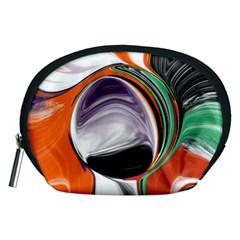 Abstract Orb In Orange, Purple, Green, And Black Accessory Pouches (medium)
