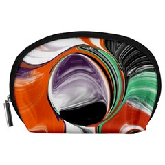 Abstract Orb in Orange, Purple, Green, and Black Accessory Pouches (Large)
