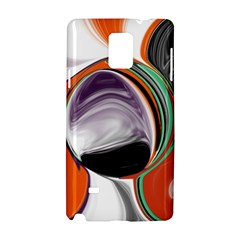 Abstract Orb in Orange, Purple, Green, and Black Samsung Galaxy Note 4 Hardshell Case