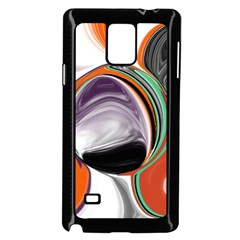 Abstract Orb In Orange, Purple, Green, And Black Samsung Galaxy Note 4 Case (black)
