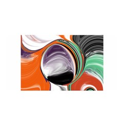 Abstract Orb in Orange, Purple, Green, and Black Satin Wrap