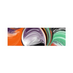 Abstract Orb in Orange, Purple, Green, and Black Satin Scarf (Oblong)