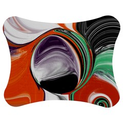 Abstract Orb in Orange, Purple, Green, and Black Jigsaw Puzzle Photo Stand (Bow)