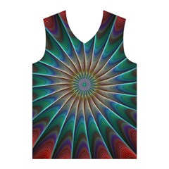 Fractal Peacock Rendering Men s Basketball Tank Top