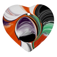 Abstract Orb in Orange, Purple, Green, and Black Ornament (Heart)