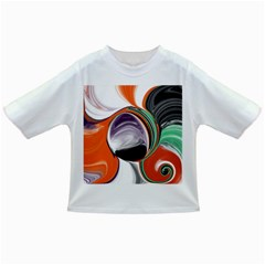 Abstract Orb In Orange, Purple, Green, And Black Infant/toddler T Shirts