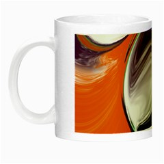 Abstract Orb In Orange, Purple, Green, And Black Night Luminous Mugs