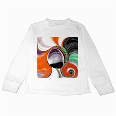 Abstract Orb In Orange, Purple, Green, And Black Kids Long Sleeve T Shirts