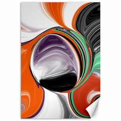 Abstract Orb In Orange, Purple, Green, And Black Canvas 12  X 18