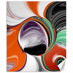 Abstract Orb In Orange, Purple, Green, And Black Canvas 20  X 24