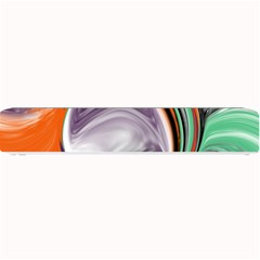 Abstract Orb In Orange, Purple, Green, And Black Small Bar Mats