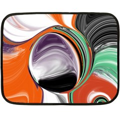 Abstract Orb In Orange, Purple, Green, And Black Fleece Blanket (mini)