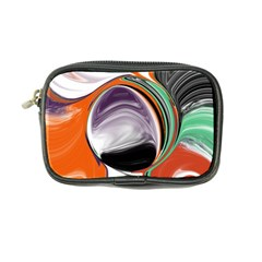 Abstract Orb In Orange, Purple, Green, And Black Coin Purse