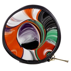 Abstract Orb in Orange, Purple, Green, and Black Mini Makeup Bags