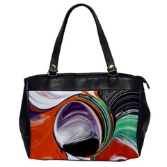 Abstract Orb in Orange, Purple, Green, and Black Office Handbags