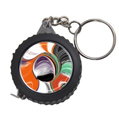 Abstract Orb in Orange, Purple, Green, and Black Measuring Tapes