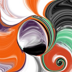 Abstract Orb In Orange, Purple, Green, And Black Magic Photo Cubes