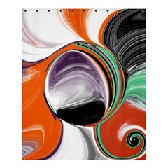 Abstract Orb In Orange, Purple, Green, And Black Shower Curtain 60  X 72  (medium)