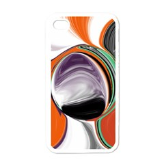 Abstract Orb in Orange, Purple, Green, and Black Apple iPhone 4 Case (White)