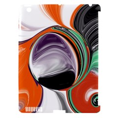 Abstract Orb In Orange, Purple, Green, And Black Apple Ipad 3/4 Hardshell Case (compatible With Smart Cover)
