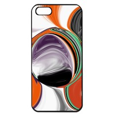 Abstract Orb In Orange, Purple, Green, And Black Apple Iphone 5 Seamless Case (black)