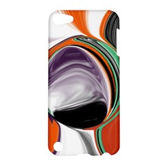 Abstract Orb In Orange, Purple, Green, And Black Apple Ipod Touch 5 Hardshell Case
