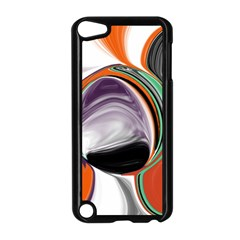 Abstract Orb In Orange, Purple, Green, And Black Apple Ipod Touch 5 Case (black)
