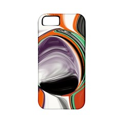 Abstract Orb in Orange, Purple, Green, and Black Apple iPhone 5 Classic Hardshell Case (PC+Silicone)
