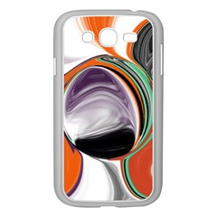 Abstract Orb in Orange, Purple, Green, and Black Samsung Galaxy Grand DUOS I9082 Case (White)