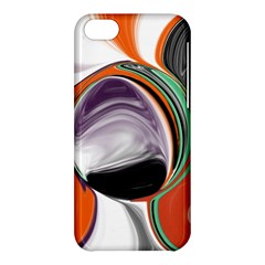 Abstract Orb in Orange, Purple, Green, and Black Apple iPhone 5C Hardshell Case