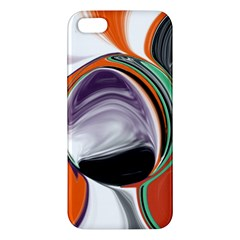 Abstract Orb in Orange, Purple, Green, and Black iPhone 5S/ SE Premium Hardshell Case