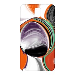 Abstract Orb In Orange, Purple, Green, And Black Samsung Galaxy Note 3 N9005 Hardshell Back Case