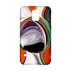Abstract Orb in Orange, Purple, Green, and Black Samsung Galaxy S5 Hardshell Case