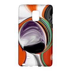 Abstract Orb In Orange, Purple, Green, And Black Galaxy Note Edge