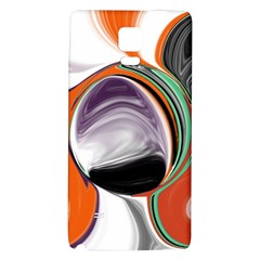 Abstract Orb In Orange, Purple, Green, And Black Galaxy Note 4 Back Case