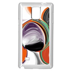 Abstract Orb In Orange, Purple, Green, And Black Samsung Galaxy Note 4 Case (white)