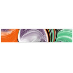 Abstract Orb In Orange, Purple, Green, And Black Flano Scarf (large)